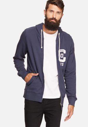 Jack & Jones Vintage Hunter Sweat Zip Hood Hoodies & Sweatshirts Navy
