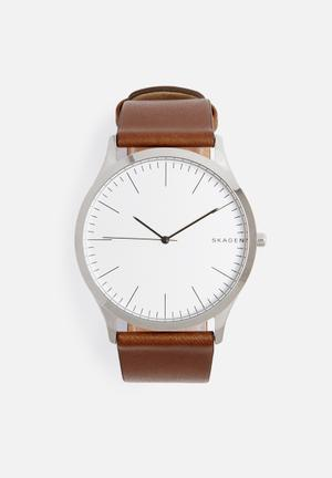 Skagen Jorn Watches Silver & Brown