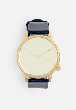 Komono  Winston Mirror Watches Gold Case With Navy Strap