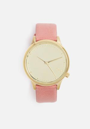 Komono  Estelle Mirror Watches Pink & Gold