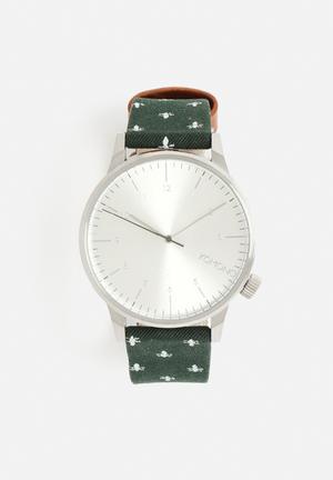 Komono  Winston Print Series Watches Green / Silver