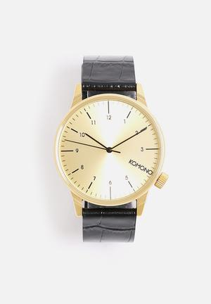 Komono  Winston Monte Carlo Watches Black & Gold