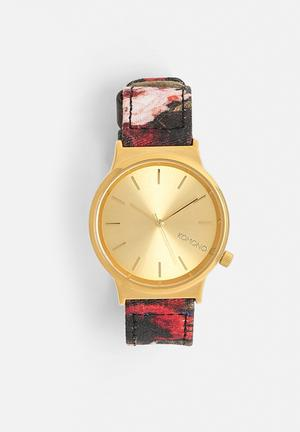 Komono  Wizard Print Series Watches Black & Floral