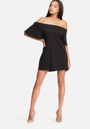 Missguided Bardot Swing Dress Casual Black