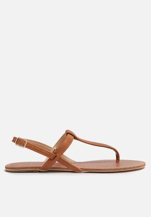 Billini Harlow Sandals & Flip Flops Tan