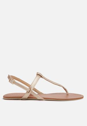 Billini Harlow Sandals & Flip Flops Gold