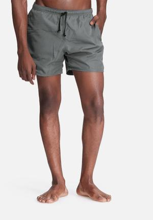 Basicthread Basic Swimshorts Swimwear Charcoal