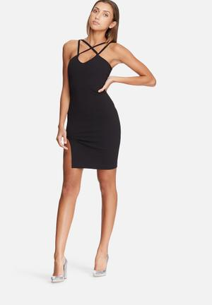 Dailyfriday Strappy Bodycon Dress Occasion Black