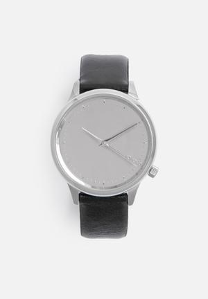Komono  Estelle Mirror Watches Black & Silver