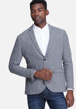 Jack & Jones Premium Leicester Blazer Jackets & Coats Grey
