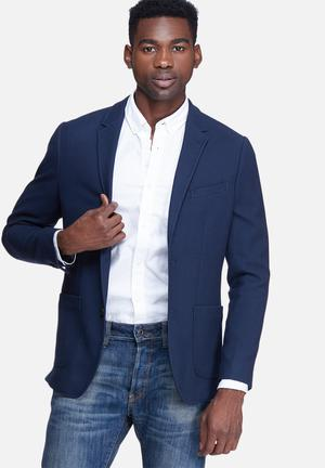 Jack & Jones Premium Perrol Slim Blazer Jackets & Coats Navy