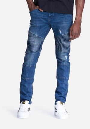 Only & Sons Loom Slim Biker Jeans Blue