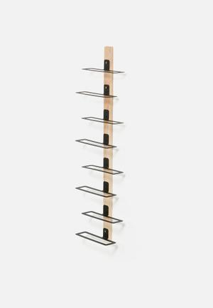 Emerging Creatives Stockholm Wine Rack Accessories Wood & Metal