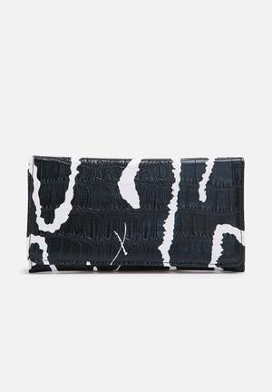 Dailyfriday Printed Purse Black & White