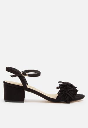 Truffle Arora Fringe Heels Black