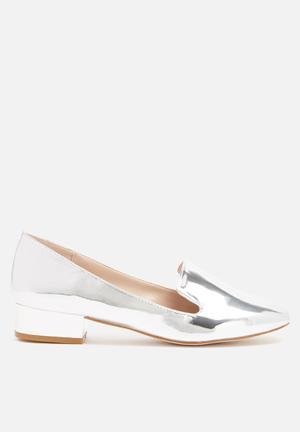 Glamorous Ella Loafer Pumps & Flats Silver