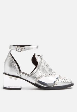Jeffrey Campbell Thoreau Heels Silver