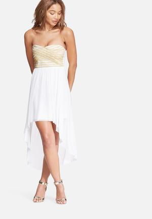 Dailyfriday Sweatheart Lurex Mini Occasion White & Gold