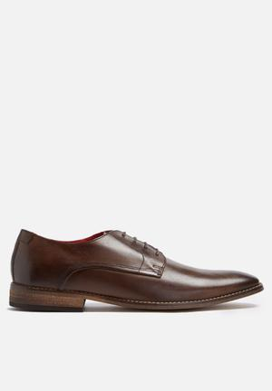 Base London Sussex Leather Derby Formal Shoes Brown
