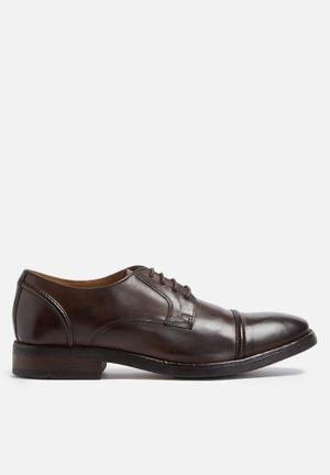 Base London Dales Leather Derby Formal Shoes Brown