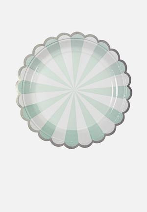 Meri Meri Aqua Plates Partyware Paper