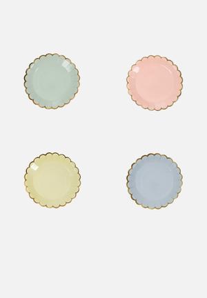 Meri Meri Pastel Canape Plates Partyware Paper