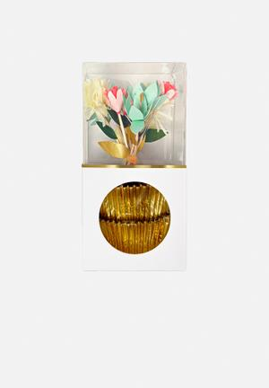 Meri Meri Bouquet Cupcake Kit Partyware Paper