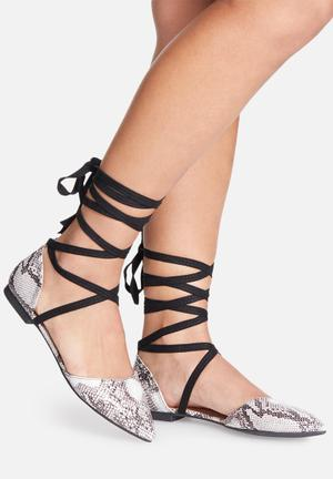 Missguided D'orsay Ballerina Pumps & Flats Grey & Black