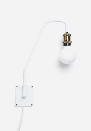 Sixth Floor Shadeless Wall Sconce Lighting White