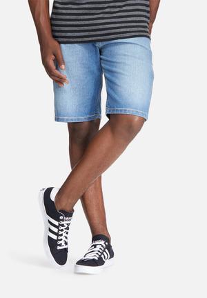 Basicthread Slim Denim Shorts Blue