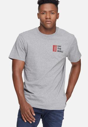 Vans Vans Off The Wall III T-Shirts & Vests Grey, Black & Red