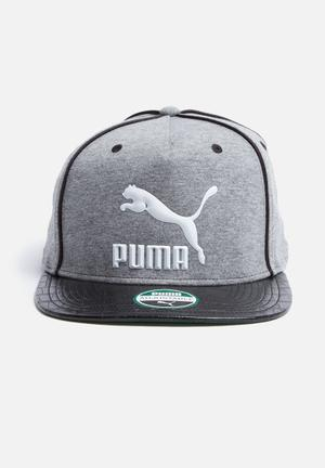 PUMA LS Deluxe Strapback Headwear Grey, Black & White