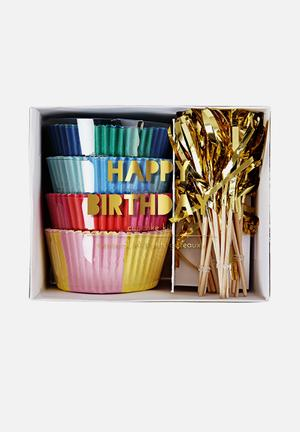 Meri Meri Happy Birthday Cupcake Kit Partyware Paper