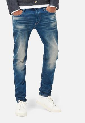 G-Star RAW 3301 Slim Medium Aged Jeans Medium Wash