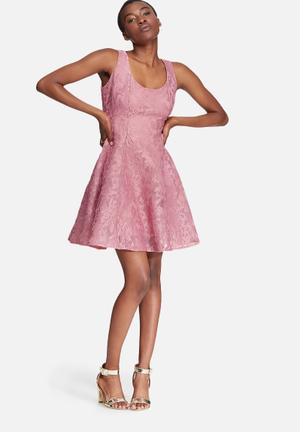Glamorous Lace Dress Formal Pink