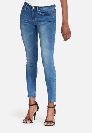 GUESS Power Skinny Low Jeans Blue