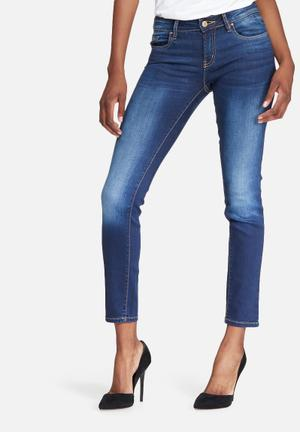 GUESS Power Curvy Mid Jeans Blue