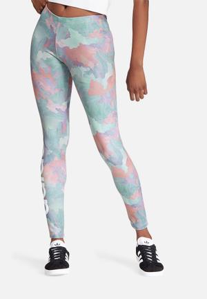 Adidas Originals Leggings Bottoms Pink, Green & Purple