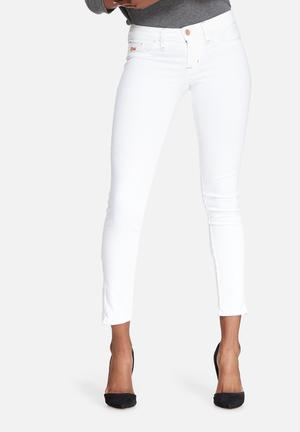 GUESS Power Skinny Low Jeans White