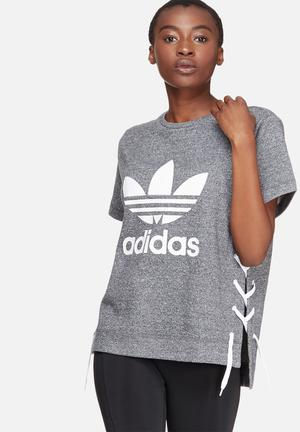Adidas Originals Draw Tee T-Shirts Grey & White
