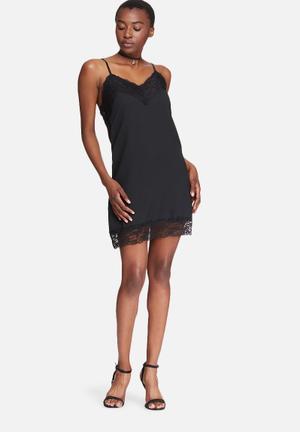 Vero Moda Bibbi Slip Dress Occasion Black