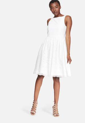 Vero Moda Annabell Anglaise Dress Formal White