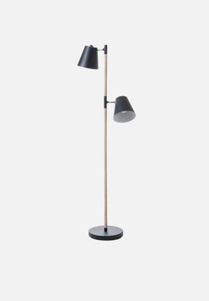 Present Time Rubi Floor Light Lighting Wood & Metal