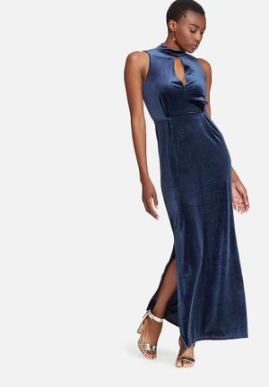 Vero Moda Liam Velvet Dress Formal Navy