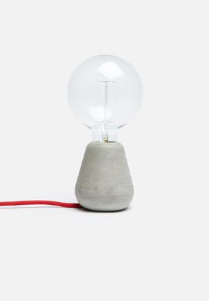 Emerging Creatives Pebble Lamp Lighting Cement