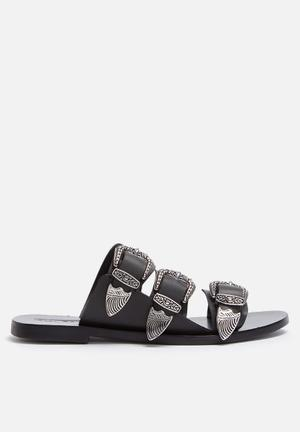 Sol Sana Peggy Slide Sandals & Flip Flops Black