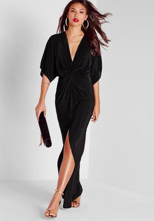 Missguided Kimono Maxi Dress Occasion Black