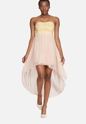 Dailyfriday Sweetheart Lurex Mini Occasion Nude