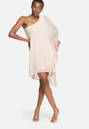Dailyfriday Shoulder Dress Occasion Pale Pink