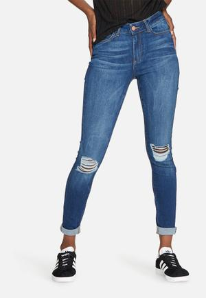 Noisy May Lucy Power Shape Jeans Blue